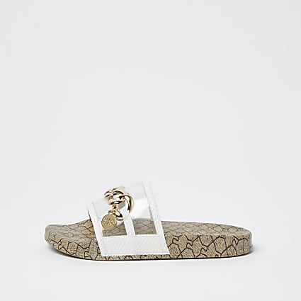 Girls gold RI chain sliders