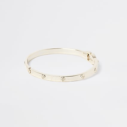 Girls gold RI clamp bracelet
