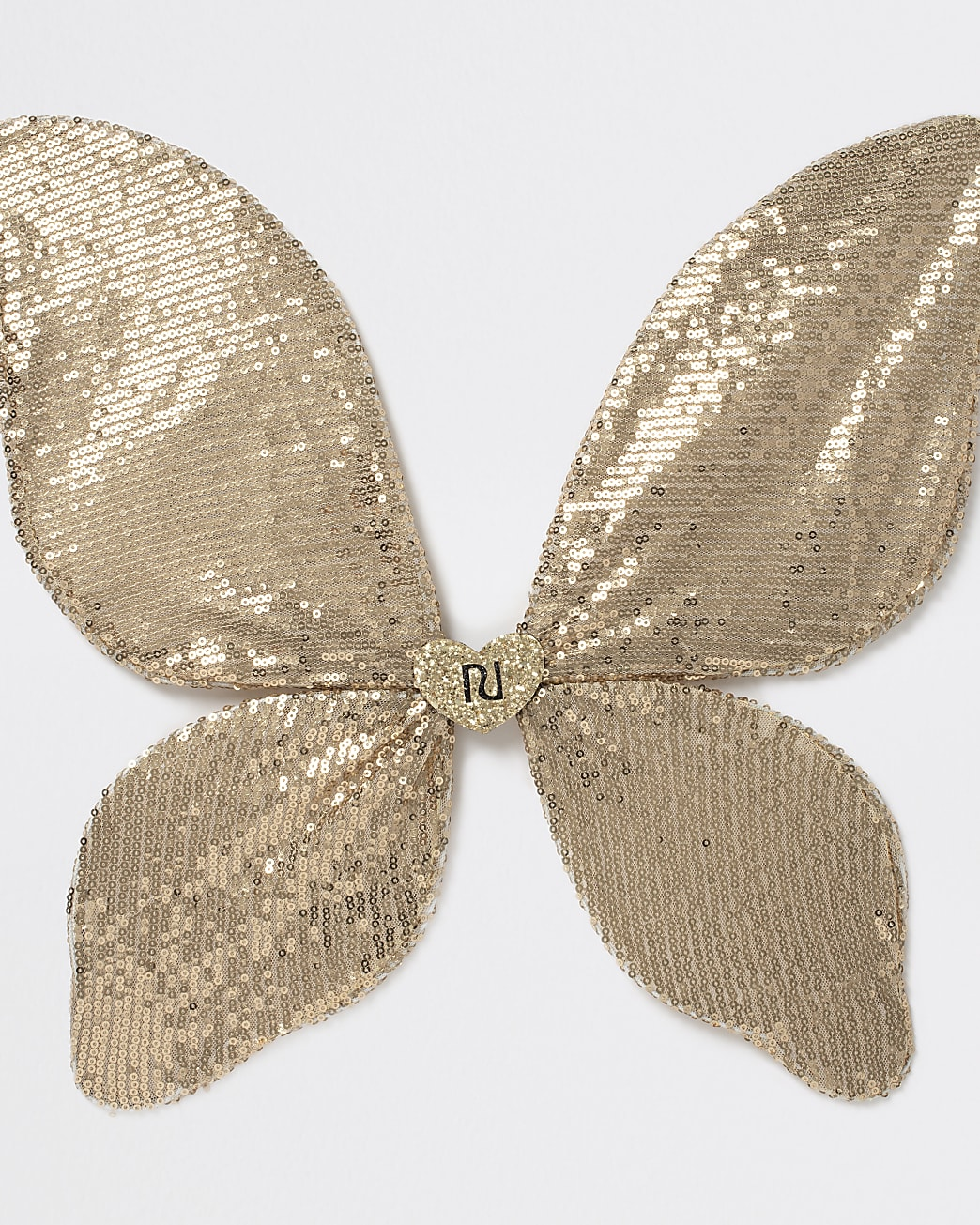Girls gold sequin butterfly wings