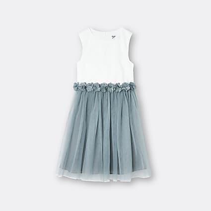 Girls green Chi Chi flower dress