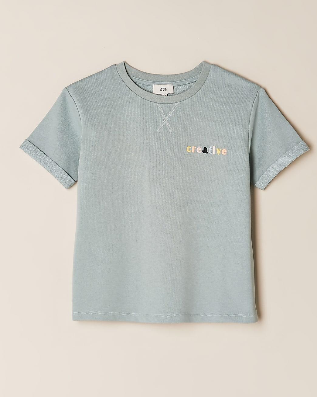 Girls green 'Creative' t-shirt