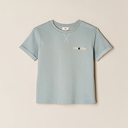 Girls green 'Creative' t-shirt