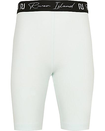 Girls green RI cycling shorts