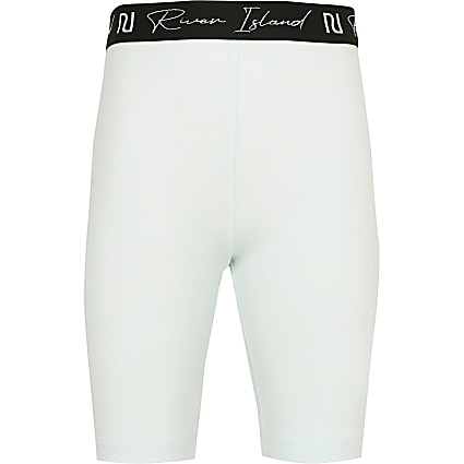 Girls green RI cycling shorts