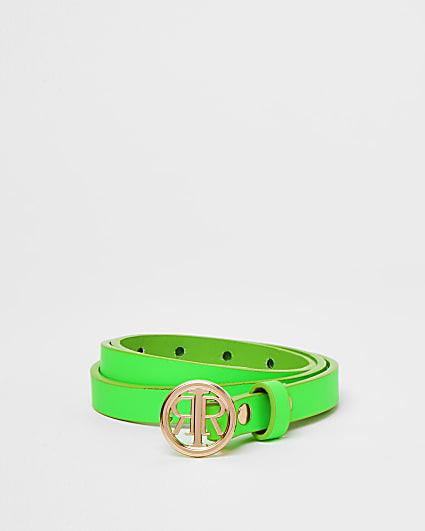 Girls green RIR belt