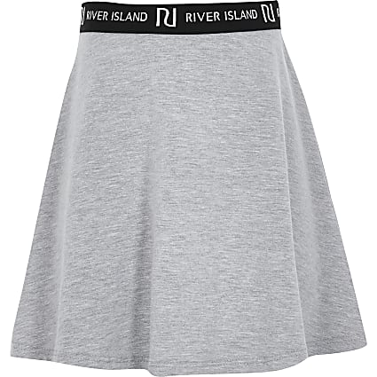 Girls Grey Light Multibuy Skirt