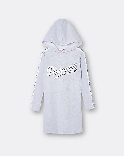 Girls grey Pineapple hoodie dress