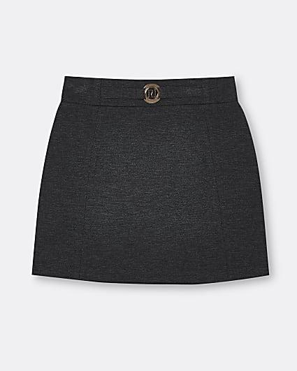 Girls grey ponte skirt
