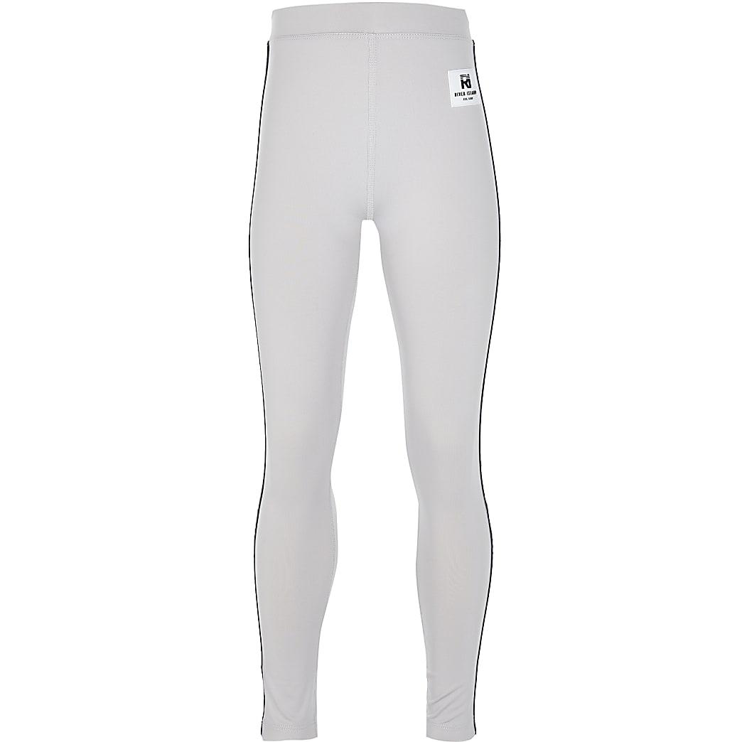 Girls grey RI Active leggings