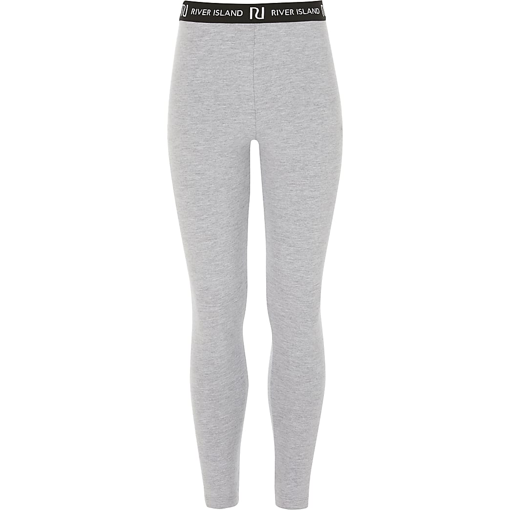 Girls grey RI leggings