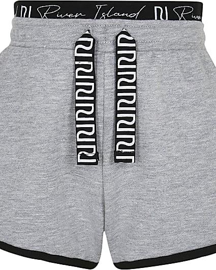 Girls grey RI runner shorts