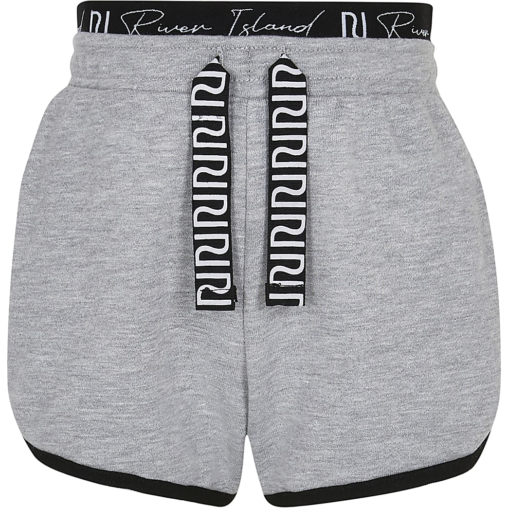 Girls grey RI runner shorts