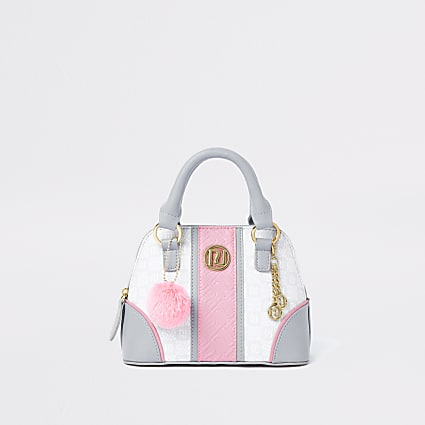 Girls grey RI tile bag