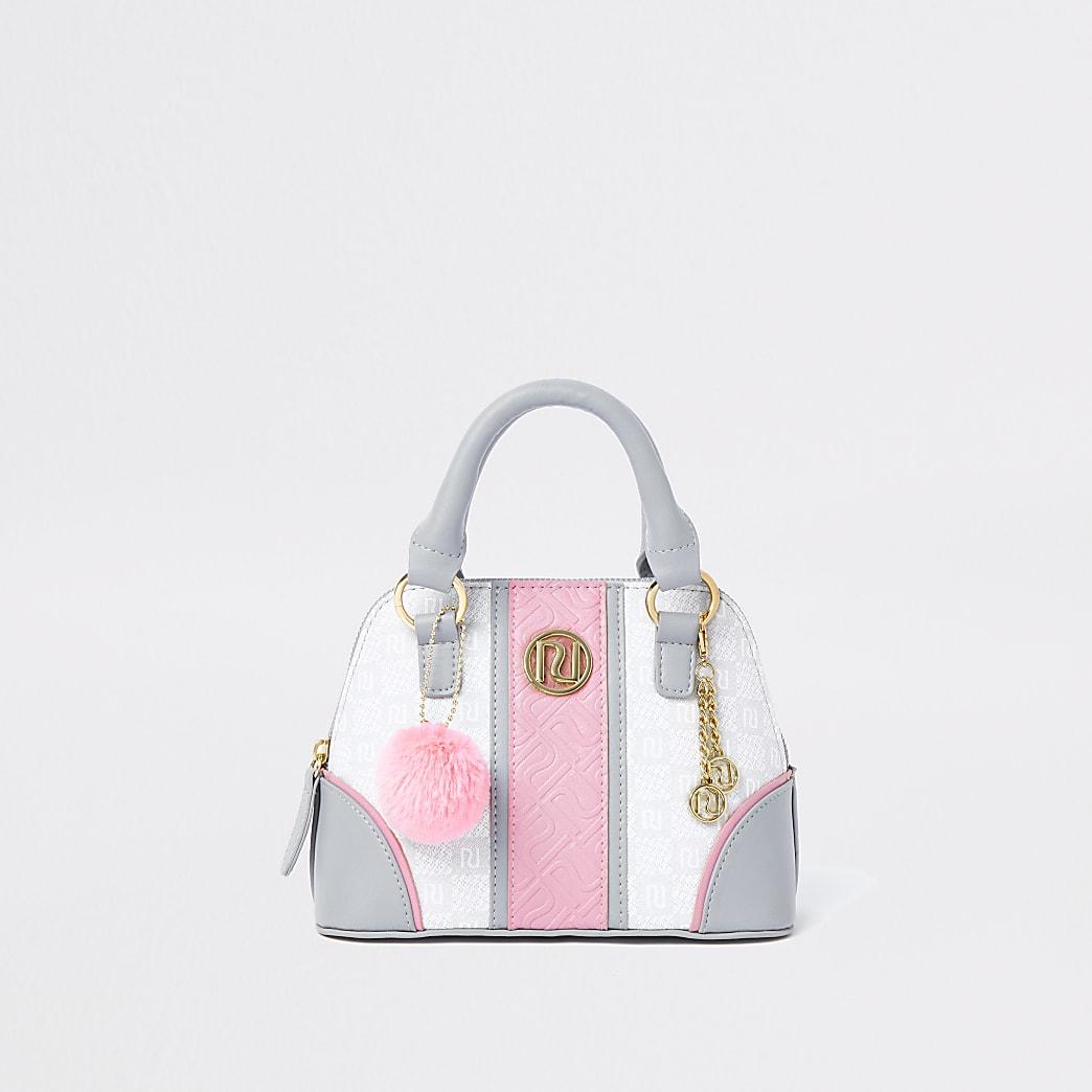 Girls grey RI tile bag