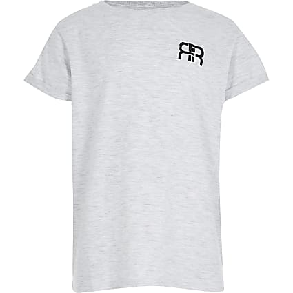 Girls grey RIR boyfriend t-shirt