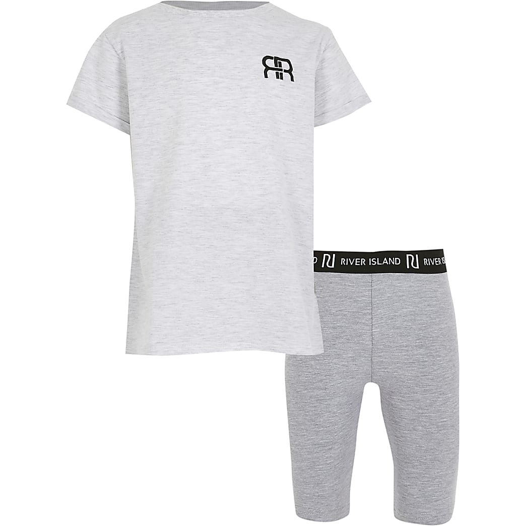 Girls grey RR t-shirt outfit
