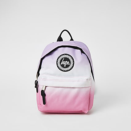 Girls Hype pink ombre printed backack