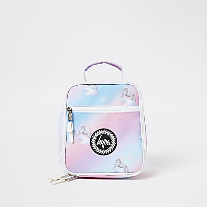 Girls Hype pink unicorn lunch box