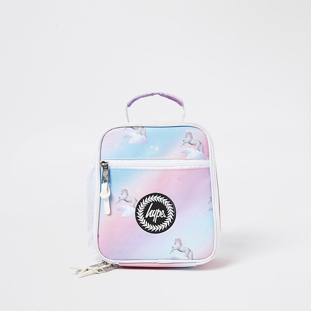 Girls Hype pink unicorn lunch box