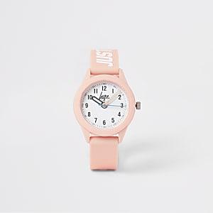 Hype – Pinkfaarbene Armbanduhr für Mädchen