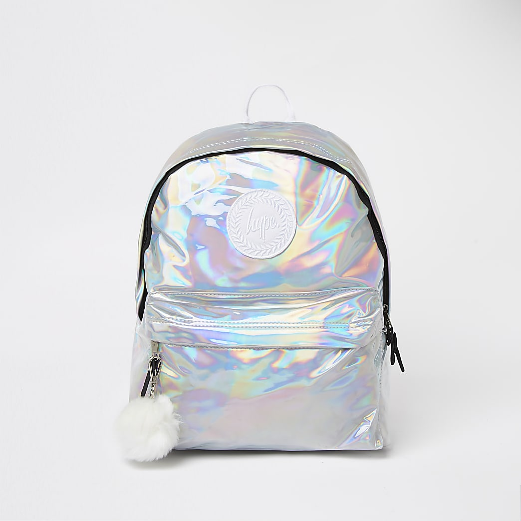 Girls Hype silver Hype holographic backpack