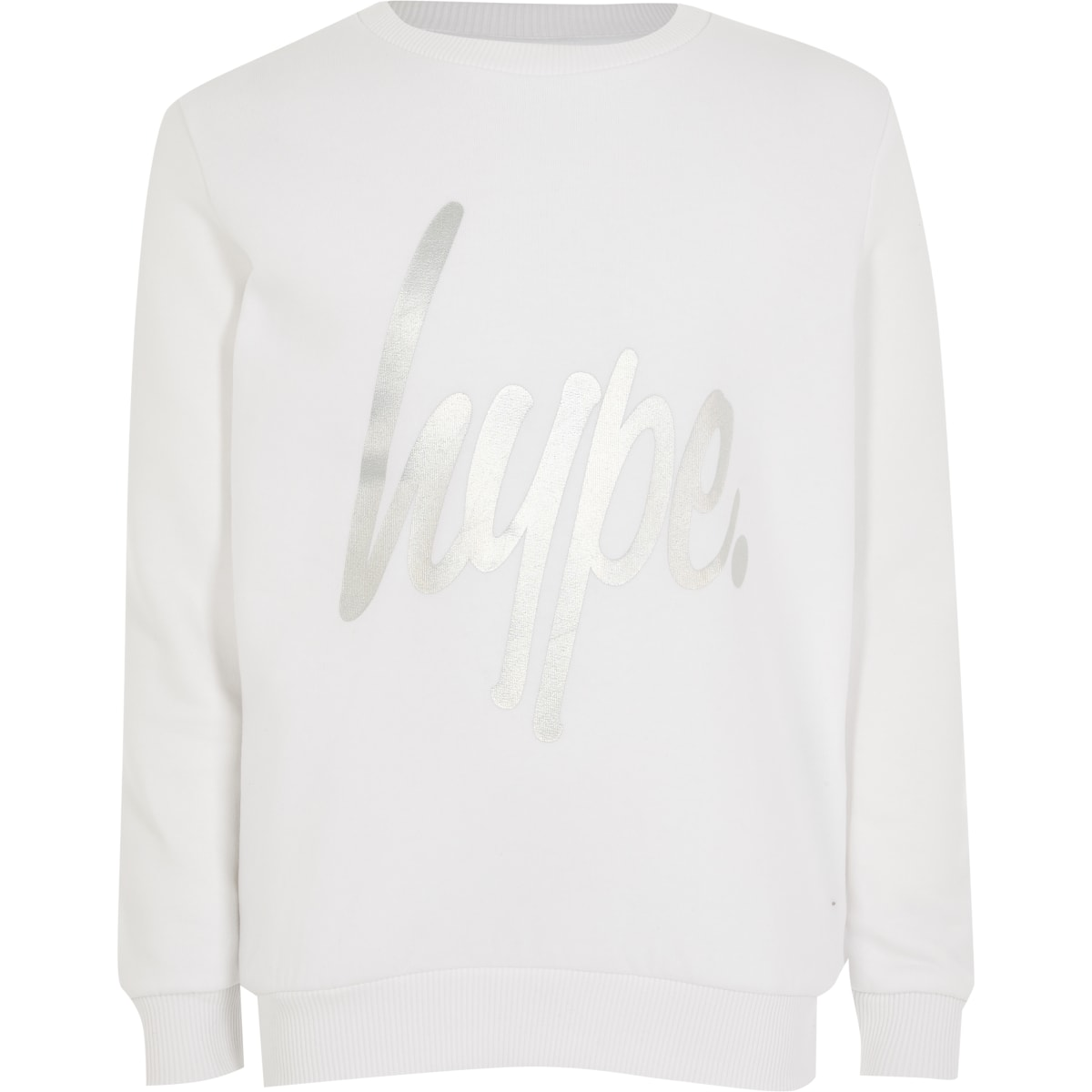 Hype - Witte sweater met folieprint voor meisjes