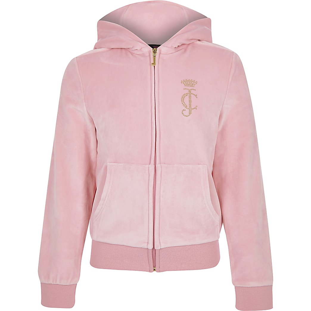 Juicy Couture - Lichtroze trainingstop voor meisjes