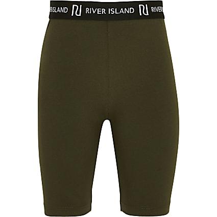 Girls khaki cycling shorts