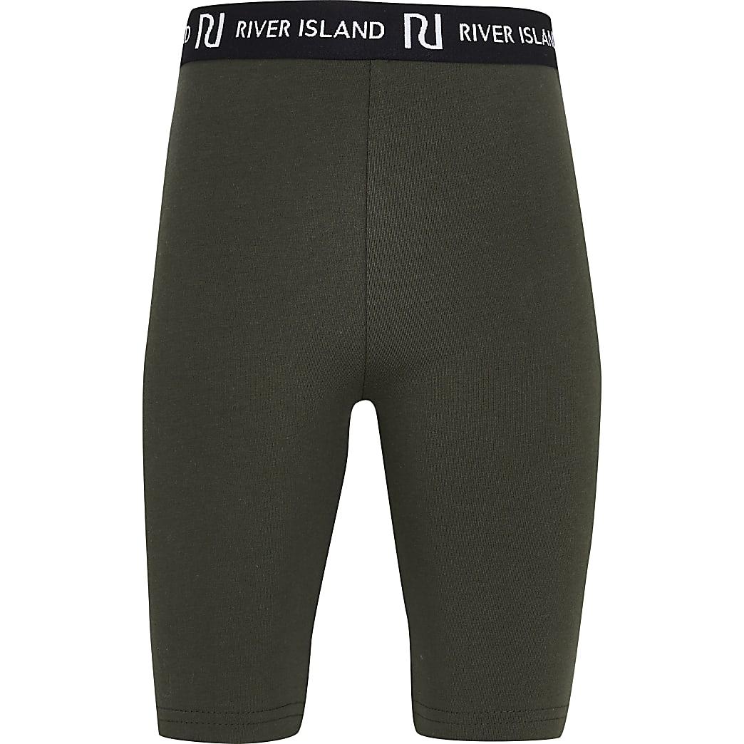 Girls khaki RI cycling shorts