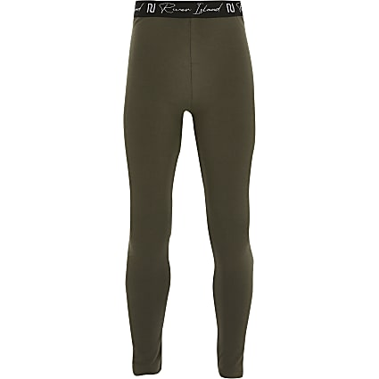 Girls khaki Ri leggings