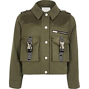 Veste-chemise utilitaire RI kaki pour fille