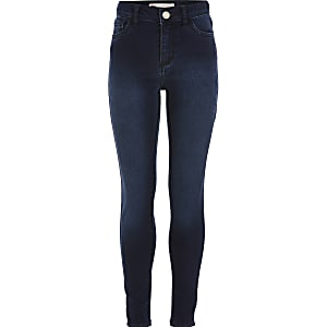 Girls Levi's dark blue super skinny jeans