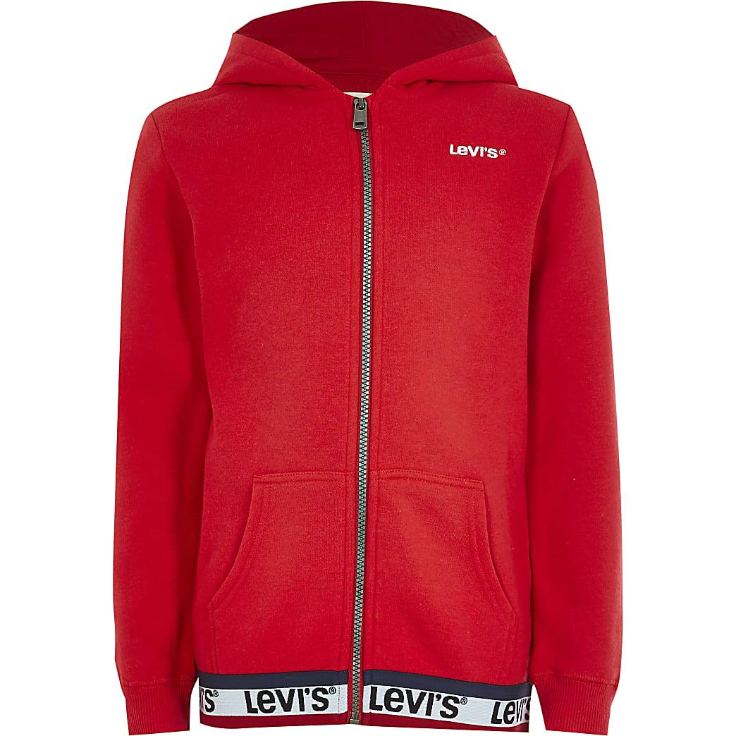 Girls Levi's red zip up front hoodie