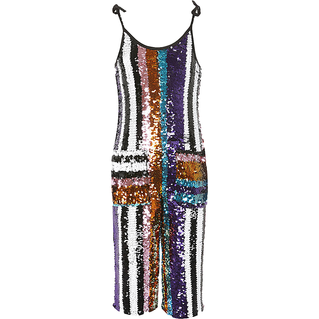 Girls Liberated Folk sequin jumpsuit