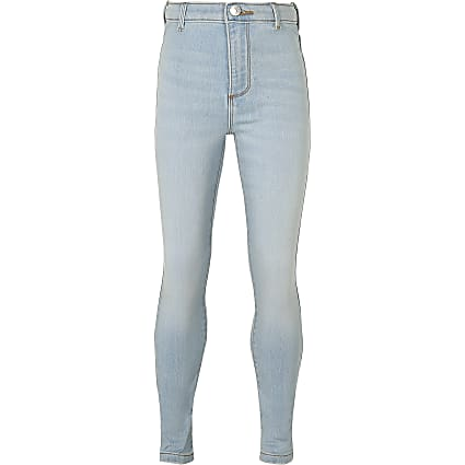 Girls light blue comfort high rise jeans