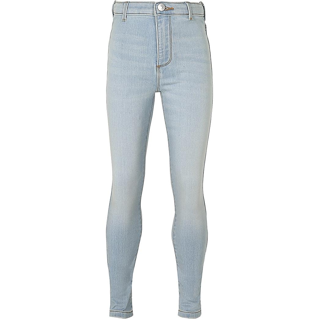 Girls light blue comfort high rise jeans