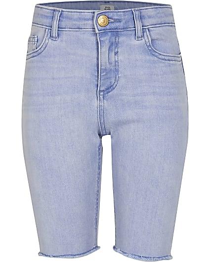 Girls light blue denim cycling shorts