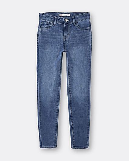 Girls light blue Levi's skinny jeans
