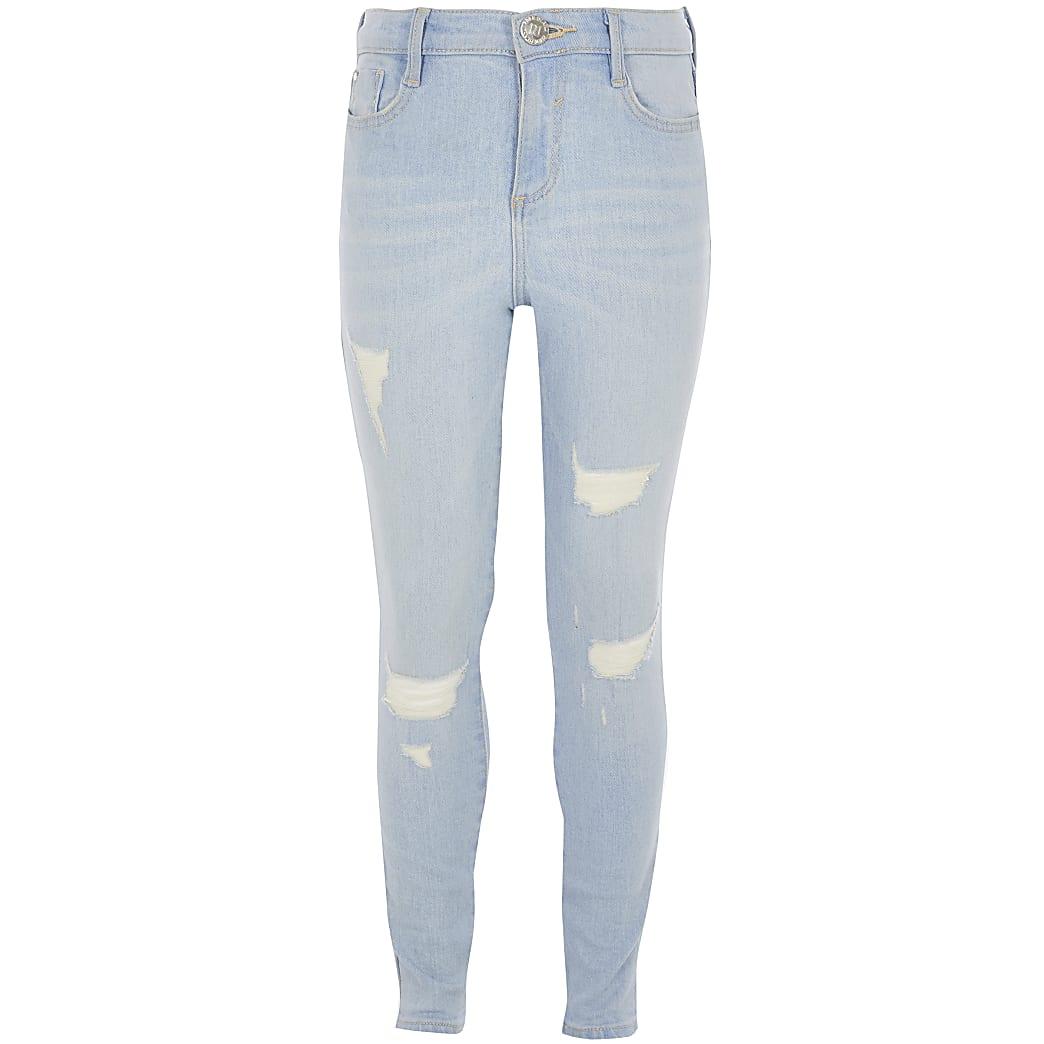 Girls light blue wash Amelie jeans