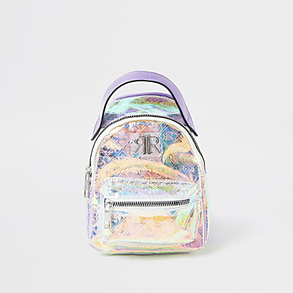 Girls lilac RIR holographic mini back pack