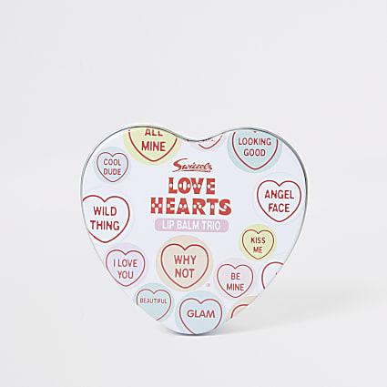 Girls Love Hearts lip balm set