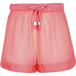 Girls neon pink beach short Short