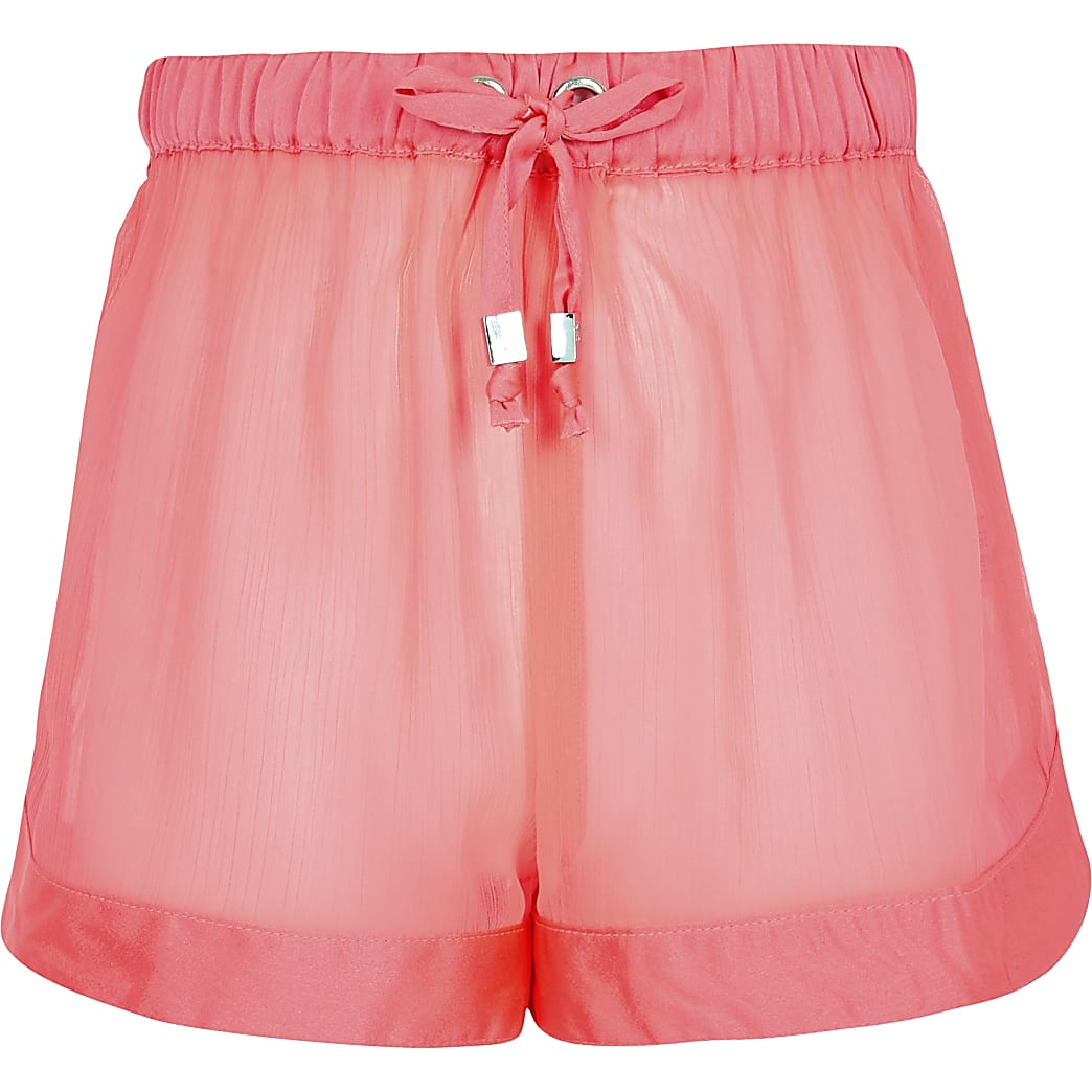 Girls neon pink beach short Short