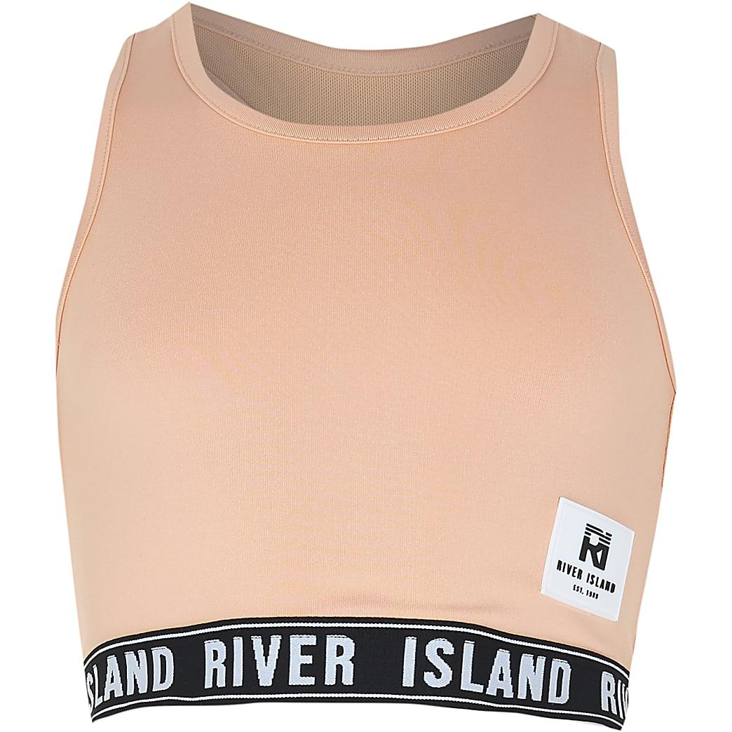 Girls nude RI Active crop top