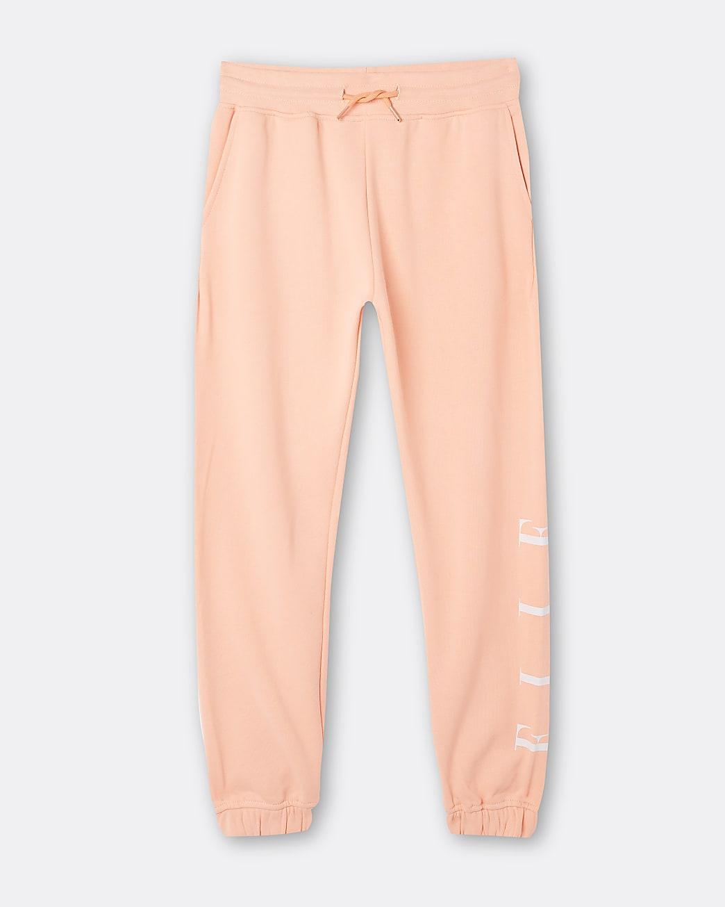 Girls orange ELLE cuffed joggers