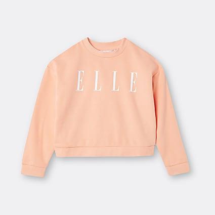 Girls orange ELLE long sleeve top