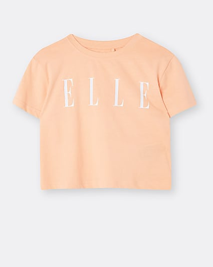 Girls orange ELLE t-shirt