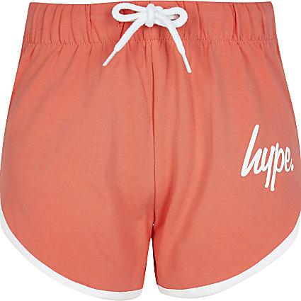 Girls orange Hype runner shorts