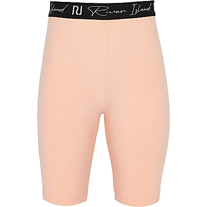 Girls orange RI cycling shorts
