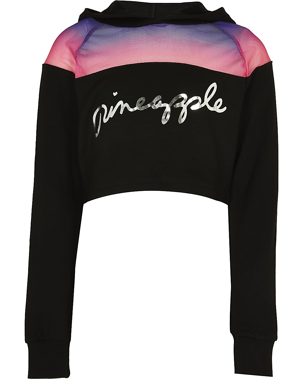 Girls Pineapple black hoodie